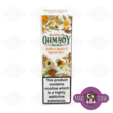 Valencia Orange and Passion Fruit Salt, Ohm Boy
